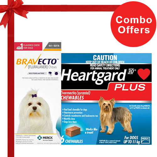Bravecto Chews + Heartgard Plus Combo Pack
