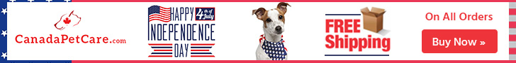 4th of July Celebration at CanadaPetCare.com! Get 12% Extra Discount + Free Shipping with coupon: HAPPY4TH