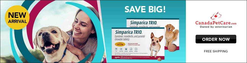 Simparica TRIO: Protect them with all your heart! Save 12% Extra + Free Shipping till Limited   Time Only! Use Coupon: SPTRIO12