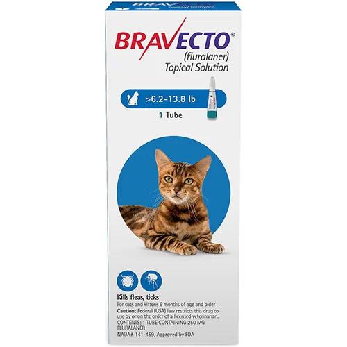 Bravecto Spot On for Medium Cats 6.2 lbs - 13.8 lbs (Blue)