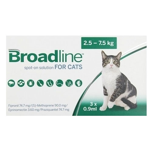 Broadline Spot-On Solution for Large Cats 5.5 to 16.5 lbs.