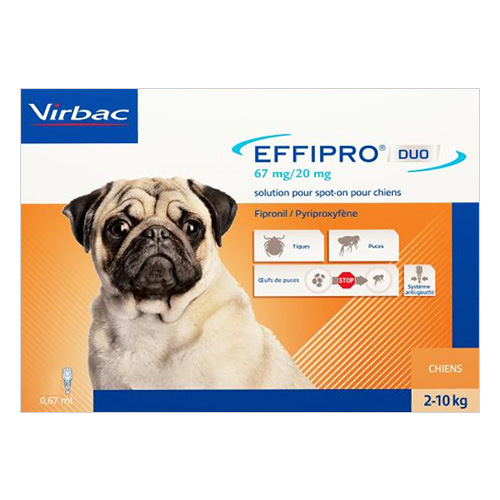 Effipro DUO Spot-On  For Small Dogs up to 22 lbs.