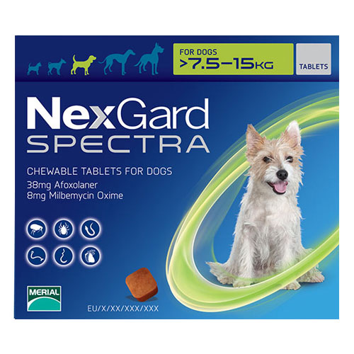 Nexgard Spectra for Medium Dog (16.5-33 lbs) Green