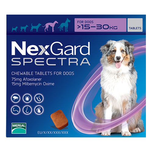 Nexgard Spectra for Large Dogs (33-66 lbs) Purple