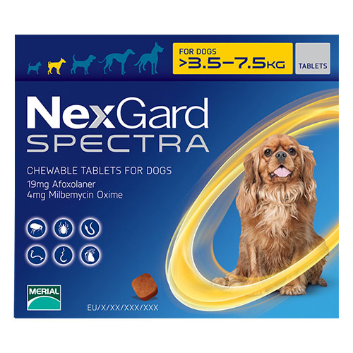 Nexgard Spectra for Small Dogs (7.7-16.5 lbs) Yellow