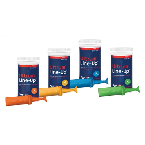Ultrum Line-up Spot-on for Small Dogs up to 22 lbs (Blue)