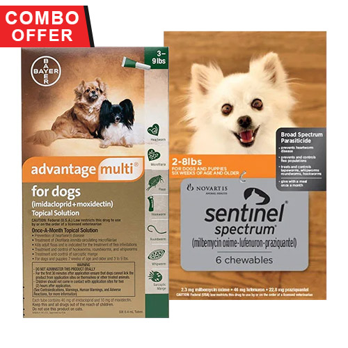 Advantage Multi & Sentinel Spectrum Combo for Dogs