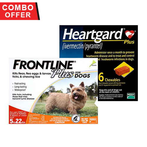 Frontline Plus & Heartgard Plus Combo Pack for Dogs