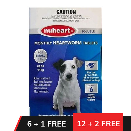 Heartgard Plus Generic Nuheart Small Dogs upto 25lbs (Blue)
