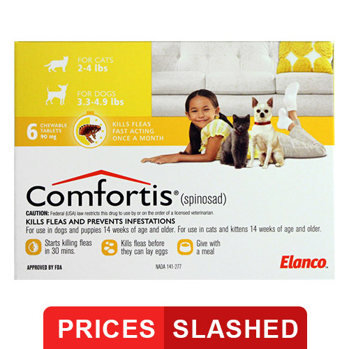 Comfortis for Small Cats (Yellow) - 1.9-2.8 kg (4 - 6lbs)