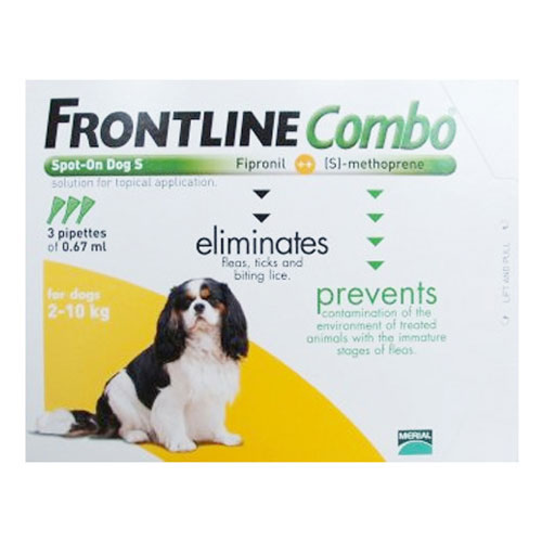 Frontline Plus (COMBO) for Small Dogs up to 22lbs (Orange)