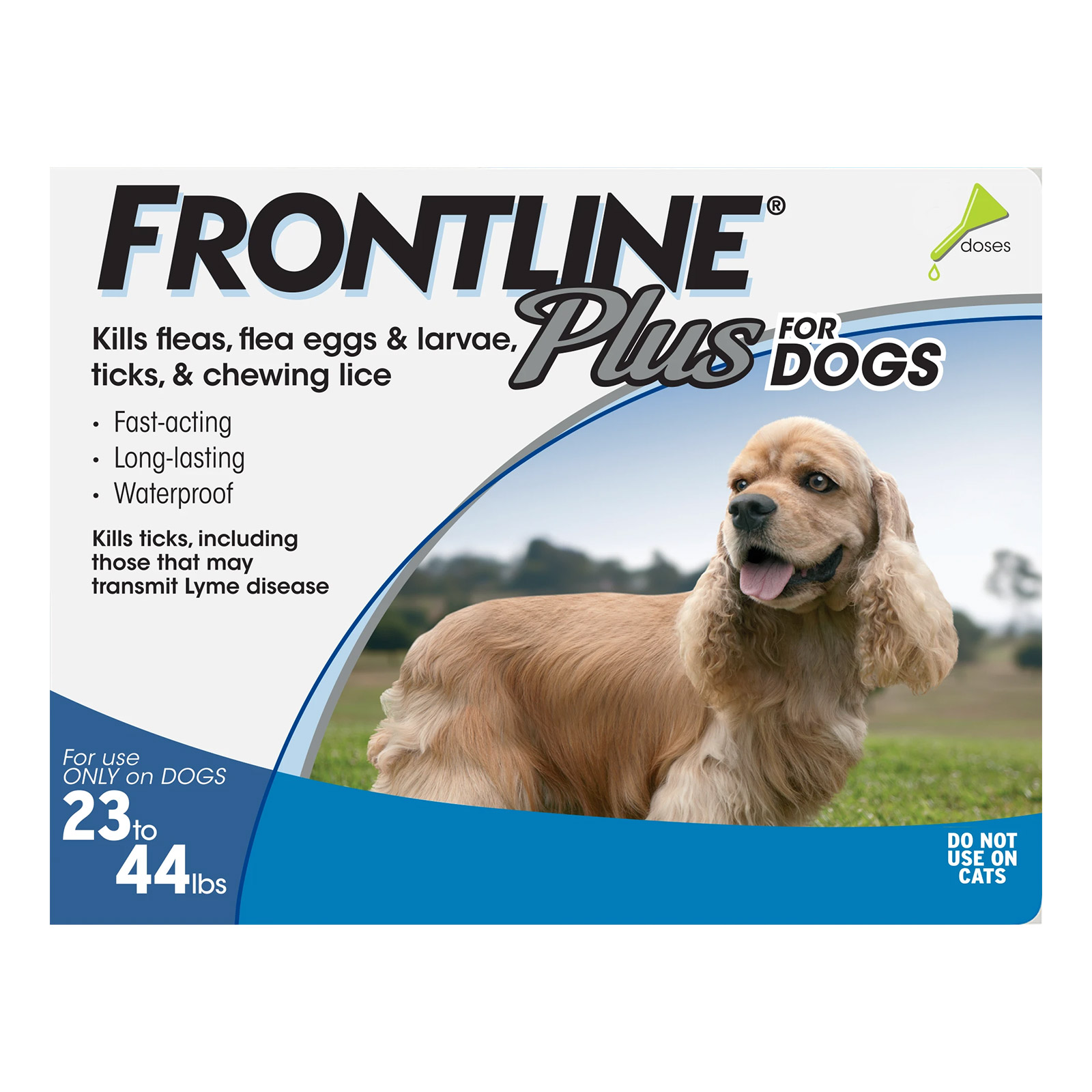 Frontline Plus for Medium Dogs 23-44 lbs (Blue)