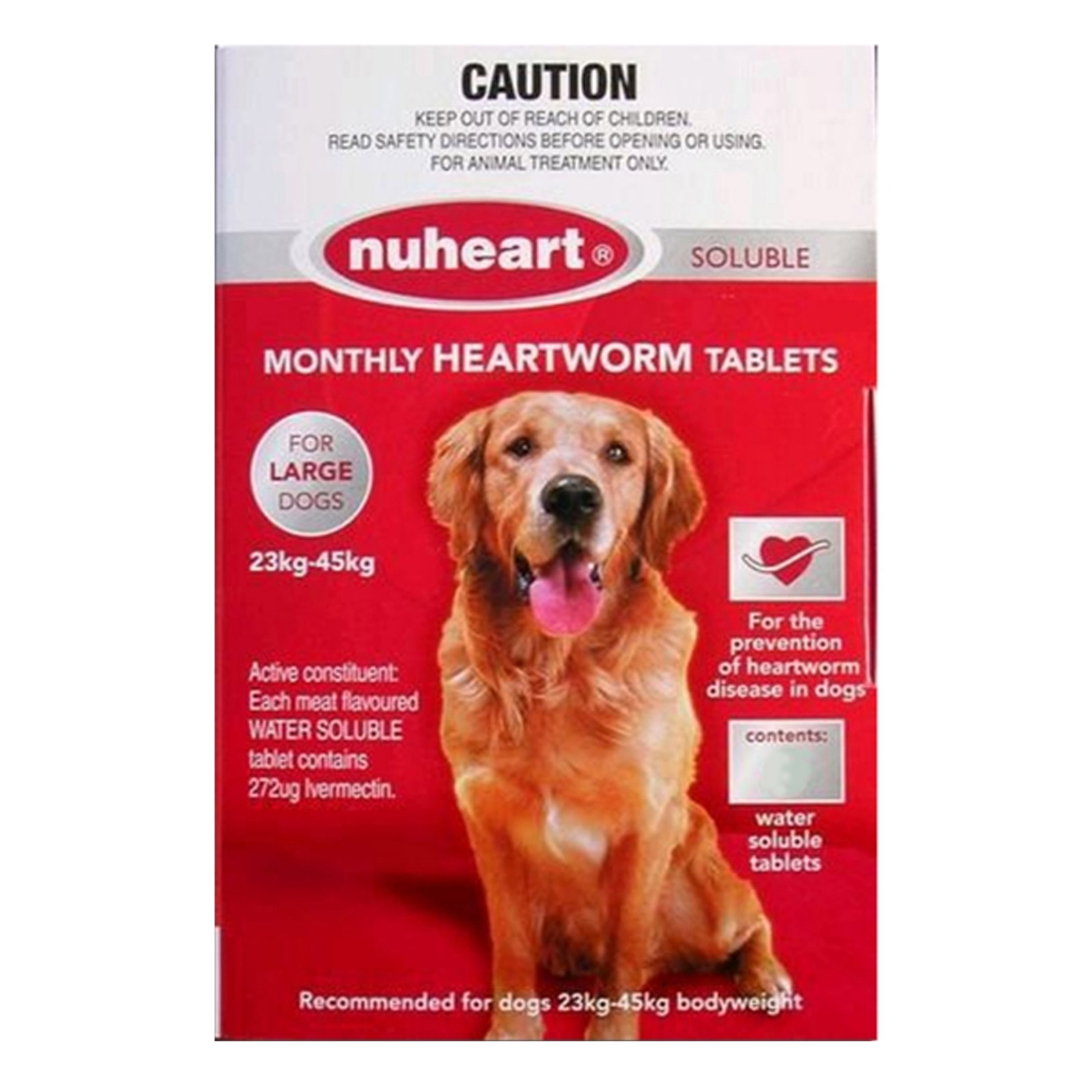 Nuheart Generic Heartgard  for Large Dogs 51-100lbs (Red)