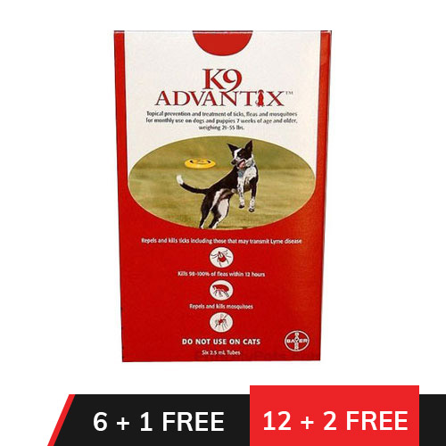 K9 Advantix Large Dogs 21-55 lbs (Red)