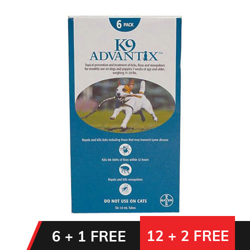 K9 Advantix Medium Dogs 11-20 lbs (Aqua)