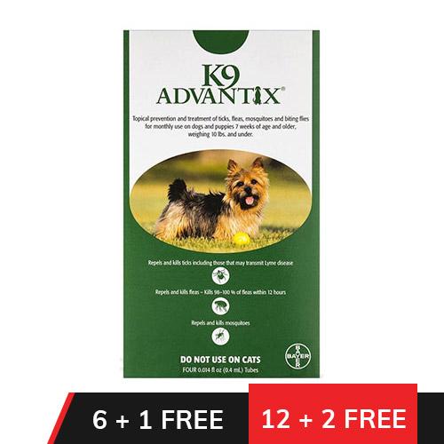 K9 Advantix Small Dogs/Pups 1-10 lbs (Green)
