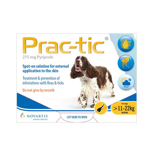 Prac-tic Spot On for Dogs 25-50 lbs (Yellow)