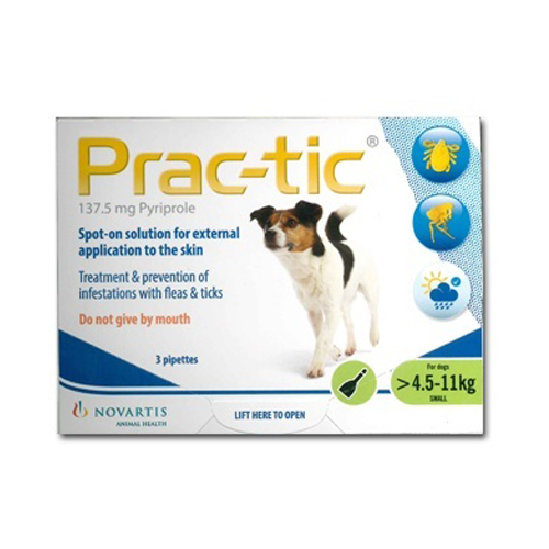 Prac-tic Spot On for Dogs 10-25 lbs (Green)