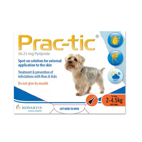 Prac-tic Spot On for Dogs 4.5-10 lbs (Orange)