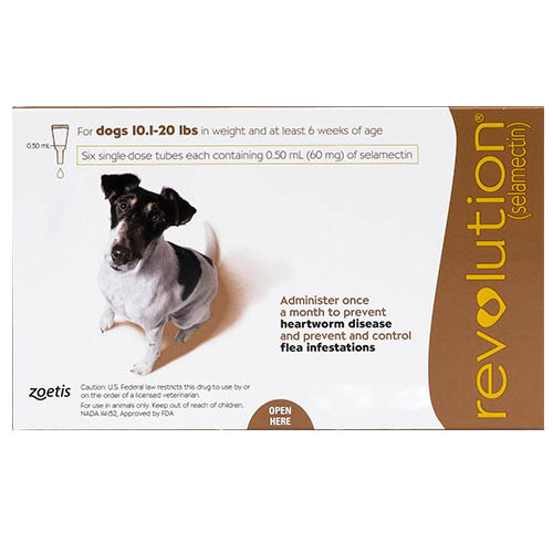 Revolution for Small Dogs 10.1 - 20lbs (Brown)