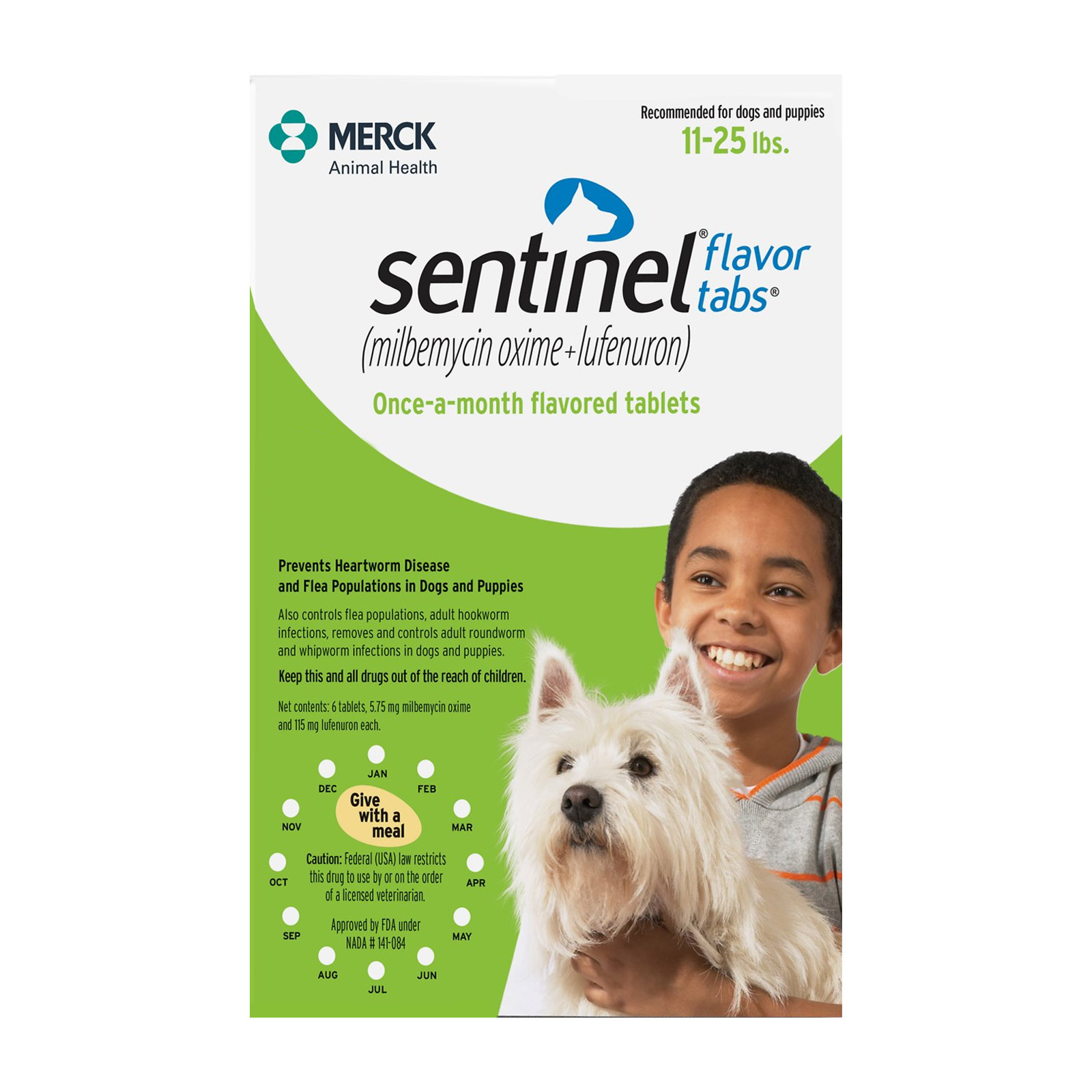 Sentinel For Dogs 11-25 lbs (Green)