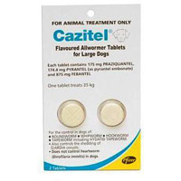 Cazitel Flavoured Allwormer For Dogs 35Kgs