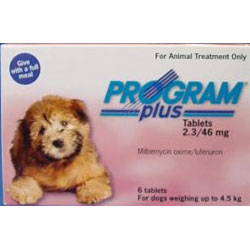 Program Plus For Dogs 1 - 10 Lbs Pink 6 Tablet