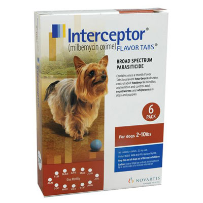 Interceptor For XSmall Dogs 2-10 lbs (Brown)