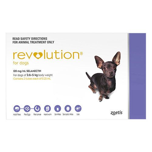 Revolution For Very Small Dogs 5.1-10 Lbs Purple 3 Doses