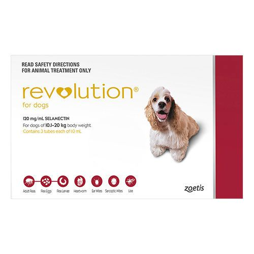 Revolution For Medium Dogs 20.1-40lbs Red 3 Doses