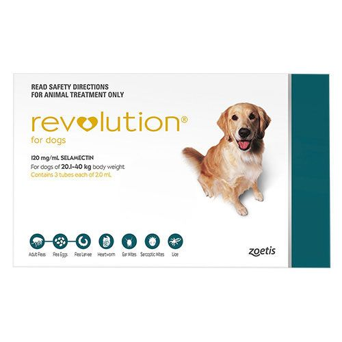Revolution For Large Dogs 40.1-85lbs Green 3 Doses