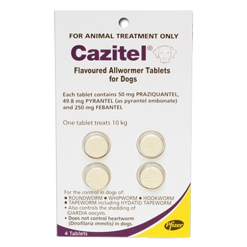Cazitel Flavoured Allwormer For Dogs 10kg 1 Tablet