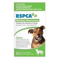 Rspca Monthly Heartworm Tablets Medium Dog 23-44lb Green, 10-20kg 3 Tablet