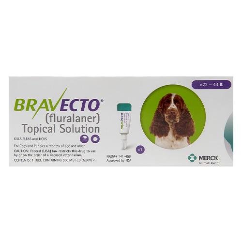 Bravecto Topical For Medium Dogs 22 - 44 Lbs Green 1 Doses