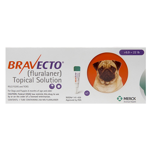 Bravecto Topical For Small Dogs 9.9 - 22 Lbs Orange 1 Doses