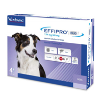 Effipro Duo Spot-On For Medium Dogs 23 To 44 Lbs. 4 Pack