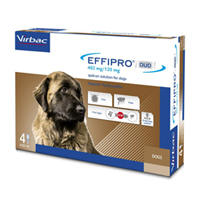 Effipro Duo Spot-On For Extra Large Dogs Over 88 Lbs. 4 Pack