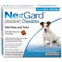 Nexgard Chewables for Medium Dogs 10
