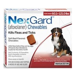 Nexgard Chewables for Extra Large Dogs 60