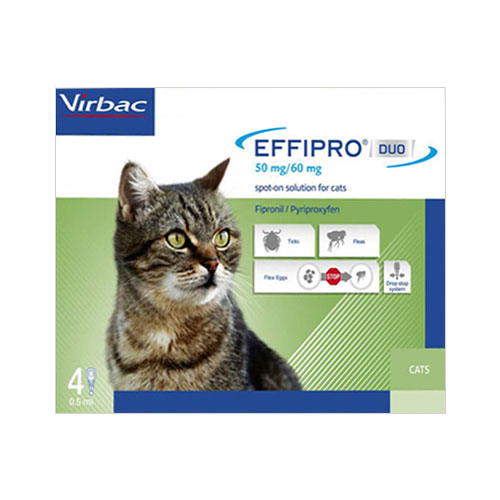 Effipro Duo Spot-On For Cats 4 Pack