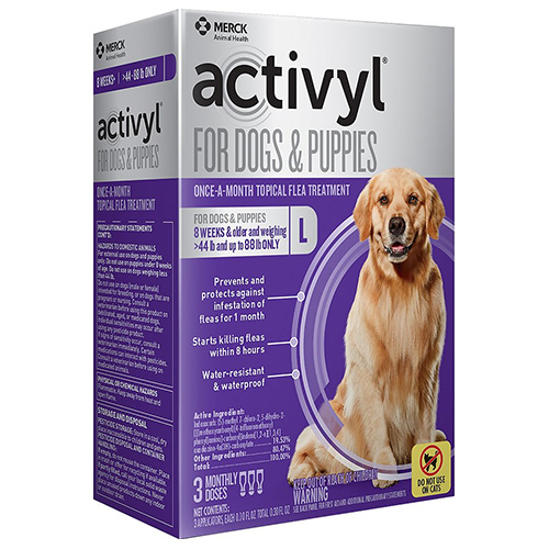 Image of Activyl For Large Dogs 44 ? 88 lbs Purple 4 Doses