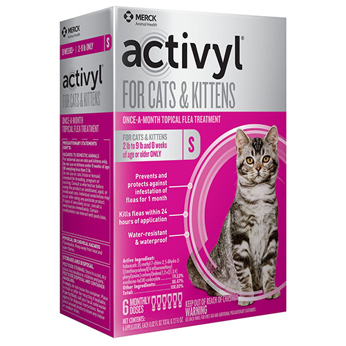 Image of Activyl For Small Cats 2-9 lbs Orange 4 Doses