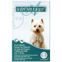Advantage for medium dogs is a topical anti-flea treatment. The waterproof solution kills 98 - 100 % adult fleas on dogs within 12 hours application and reduces the chances of Flea Allergy Dermatitis (FAD).