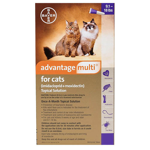 Advantage Multi (Advocate) Cats over 10lbs (Purple)