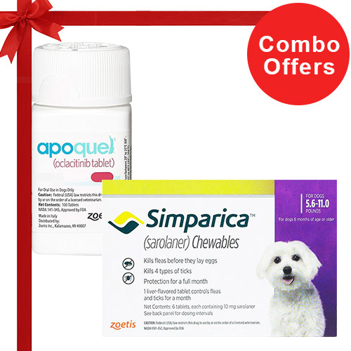 Simparica + Apoquel  Combo Pack  - For Very Small Dogs (5