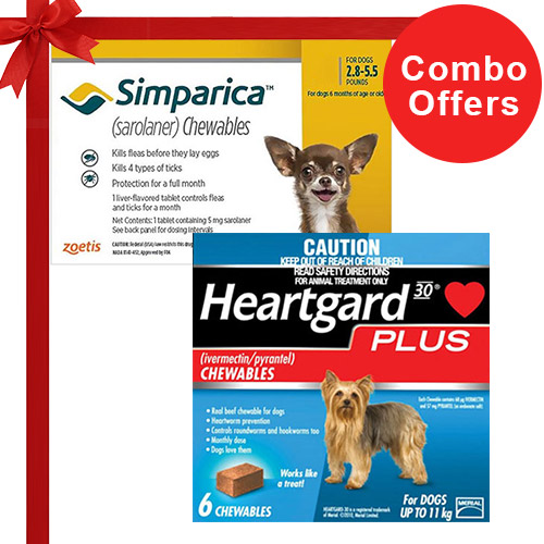 Simparica + Heartgard Plus Combo Pack  - For Very Small Dogs (2