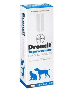 Droncit Tapewormer For Dogs 4 Tablet