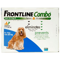 Frontline Plus Combo For Medium Dogs 23-44 Lbs Blue 3 Pipette