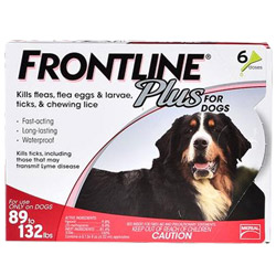 Frontline Plus For Extra Large Dogs Over 89 Lbs Red 3 Doses
