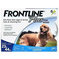 Frontline Plus For Medium Dogs 23-44 Lbs Blue 3 Doses